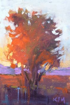 Super tiny pastel -- fabulous! Daily Paintworks - Karen Margulis
