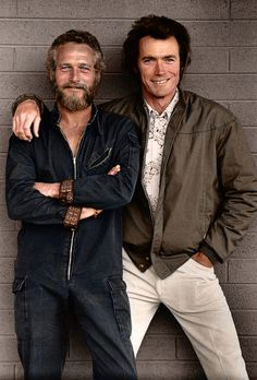70s Actors and Actresses | American actors & movie icons, Paul Newman & Clint Eastwood in the 70s