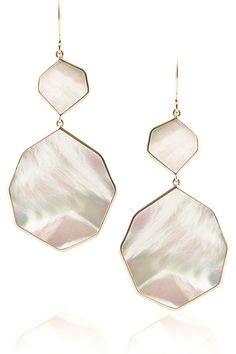 Ippolita Rock Candy 18-karat gold mother-of-pearl earrings