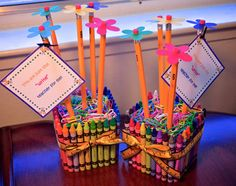 Teacher Appreciation gift | Teacher Appreciation Gift - Crayon and Pencil Vase ...