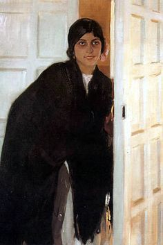 Young Andalusian Girl (Joaquin Sorolla y Bastida - ) Giovanni Boldini, Valencia, Spanish Painters, Spanish Artists, Claude Monet, Madrid, Virtual Art, Painting Of Girl, Traditional Paintings