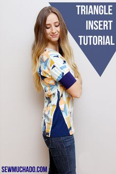 Triangle Insert Top Tutorial - jazz up your favorite top pattern in no time!