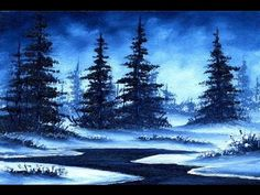 Warm Winter Snow (5x7) / Small & Simple Oil Painting Exercise for Beginners - YouTube