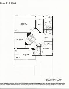 Mabel Bridge 238.3009 Second Floor Plan in Orlando FL