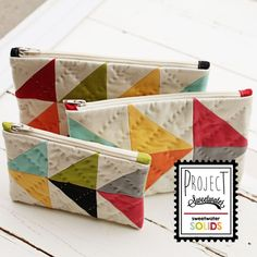 Just a short little post to reveal one more project in our Project Sweetwater- Solids box. What's better than one cute zipper pouch? Well, three is always better than one! A little peek of t…