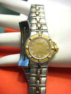 Ladies Luxury Watch... Diamond and Gold says it alla!!  Raymond Weil Ladies Luxury Parsifal Watch 9690 Diamonds 18K Yellow Gold Details #RaymondWeil #ladieswatch #diamonds #gold #watch #bling #luxury