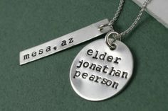 """missionary mom necklace - sweet idea"" So many missionary ideas!  I'll need one of these in just four years!!!  I'm so old!"