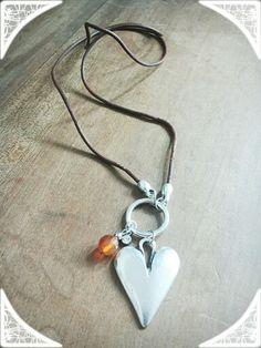 M-Brace sieraden - Ketting met leren koord en DQ hanger €19,95