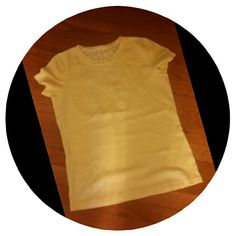 Cute Little Tee in Vibrant Yellow! Size small and 100 % cotton by St Johns Bay. ...great condition St. John's Bay Tops Tees - Short Sleeve