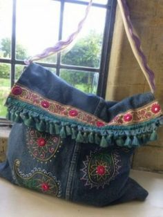 17 Best DESIGNS OF HANDMADE JEAN BAGS images  30897f0d14f0e