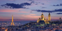 #FranceParisarchitecturecityscapelong exposurenightsunsettravel #AbderrezakChakri (November 11 2015 at 12:49AM) Paris. Basilique du Sacré-Cœur. tour eiffel.