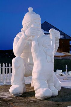 So Many Memories: Silent Sunday ~ Snow Sculpture