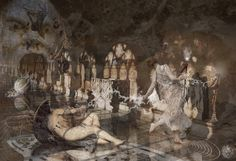 """Walpurgisnacht | Rondò al mandamento delle Madri"" 2015 © [Mazareno] ominimedial-digitalfrottage-photomanipulation #cyberart #mixmedia #photomanipulation #glitch #photography #drawing #graphic #painting #digitalart #omnimedia #inkjet #fresco #esotericism #mythology #symbolism #apocalypse #abandoned #pollution #Walpurgisnacht #Faust #Dionysus #initiation #ritual #epos #noumenon #phenomenon #alchemy #science #astrology #arcane #Orpheus #Eleusinian #Mysteries #beast #man #god #soul #love #art"