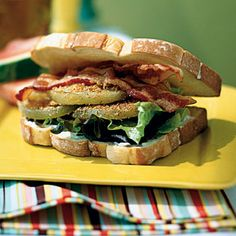 Fried Green Tomato BLTs | CookingLight.com