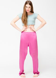 Vintage Pink Silk Pants -- found on BIBANDTUCK.COM #Flow