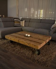 Coffee table design over is a really admirable and modern styles. Hope you get the idea or ideas for your modern coffee table. Coffee Table Design, Diy Coffee Table, Brown Furniture, Diy Furniture, Diy Tisch, Wood Table, Living Room Decor, Interior Design, Home Design
