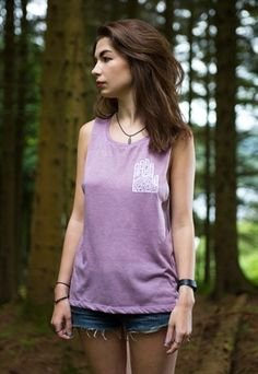 Hamsa slouchy muscle vest in mauve. Hamsa, Mauve, Vintage Fashion, Muscle, Vest, Tank Tops, Stuff To Buy, Women, Halter Tops