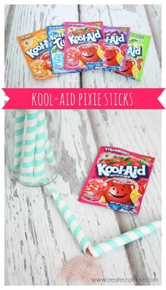 Learn how to make your own Kool-Aid Pixie Sticks. Perfect Easter treat idea!