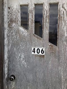 Great newer numbers on a beautifully textured door