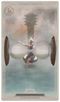 Tarot card: Temperance by Sabina Nore