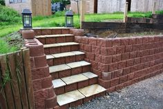 Integrated steps with slate used as tread
