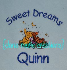 Personalized Baby Blanket Winnie The Pooh by DanaMarieCreations