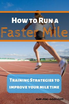 Whether you're new to running or have years of experience, you can make small training changes to run a faster mile. Here are tips for shaving some time off your mile PR. #runfaster #trackrunning More Speed Training, Strength Training Workouts, Running Workouts, Running Training, Running A Mile, Running Plan, Running Tips, Running Form, Hill Workout