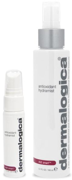 Dermalogica Antioxidant Hydramist - reduces fine lines associated with dryness. Creates an antioxidant shield against free radicals. Refreshing mist can be spritzed on skin throughout the day to refresh your look.