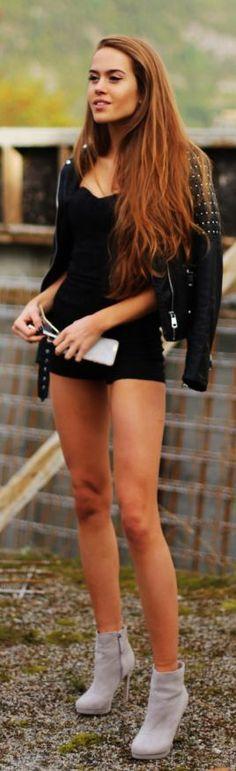 Kristine Ullebo Studded Biker Jacket Fall Inspo #Fashionistas