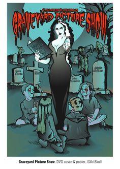 Graveyard Picture Show movie poster, Adobe Illustrator