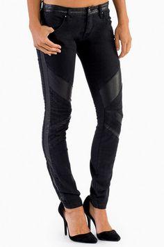Blank Smash Moto Skinny Jeans $42 at www.tobi.com