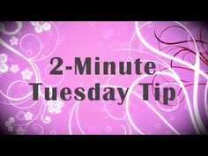Simply Simple 2-MINUTE TUESDAY TIP - Note Tag Punch Tip by Connie Stewart
