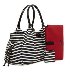 I've got to have this!!!! kate spade | designer diaper bags - nylon stripe stevie baby bag