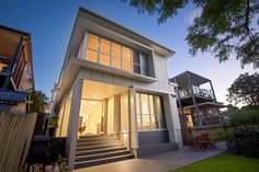 Our team provided architectural, interior and landscape design for renovation design Red Hill, ensuring the form and function matched the family's needs. Queensland Australia, Contemporary Architecture, Future House, Landscape Design, Mansions, House Styles, Interior, Red, Home Decor