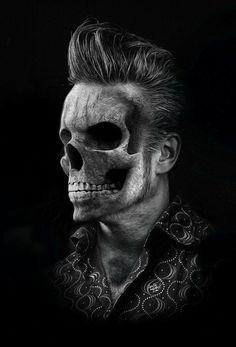 odall: Fantasmagorik rock n' skull by Obery Nicolas Memento Mori, Skull Reference, Totenkopf Tattoos, Poster S, Skull Tattoos, Psychobilly, Fantasy, Grim Reaper, Skull And Bones