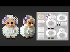 Cute 3D Sheep Perler Bead Pattern. Laceys Crafts is all about sharing super simple and adorable crafts for kids. Enjoy!