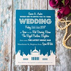 Personalised Invitations Featuring Brighton Pavilion GBP200 Each