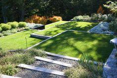 john brookes garden design, terraced landscape