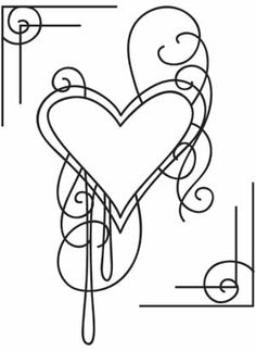 001 simple border designs for project swirls and hearts
