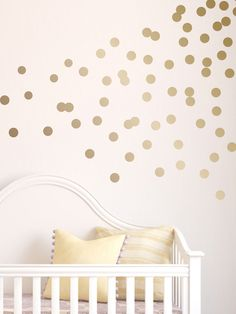 Dots #walldecal in a metallic finish.  Simple to install or take down!  #nurserydecor