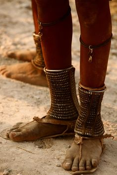 **Africa | Himba (Namibia) traditional anklets  - Explore the World with Travel Nerd Nici, one Country at a Time. http://TravelNerdNici.com