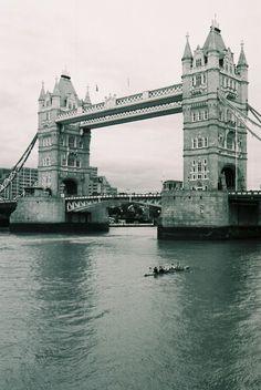 London Rowing past Tower Bridge. #Rowperfect