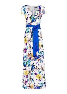 MANGO - Vestido comprido estampado floral