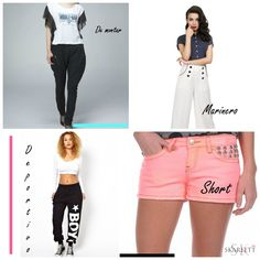 pantalones-collage-2 Gym Shorts Womens, Fashion, Pants, Clothing, Note Cards, Tutorials, Dressmaking, Counseling, Atelier
