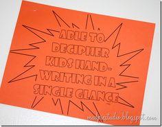 lots of fabulous teacher appreciation ideas- super hero theme