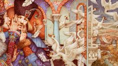 The Wild Swans illustration by Anne Yvonne Gilbert