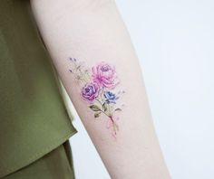 Beautiful+bouquet+by+Tattooist+Banul #beautytatoos