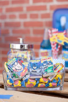 Vintage Superhero Birthday Party via Kara's Party Ideas