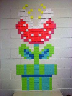 post it 7 Amazing 8 bit post it note art Photos) Arte Post It, Post It Art, Super Mario, 8 Bit Art, Grafiti, Mario Party, Office Art, School Office, Art School