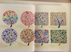 Apple Picking Coloring Pages : Bluebird in apple tree colouring for mindfulness garden book